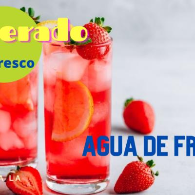 agua de fresas receta