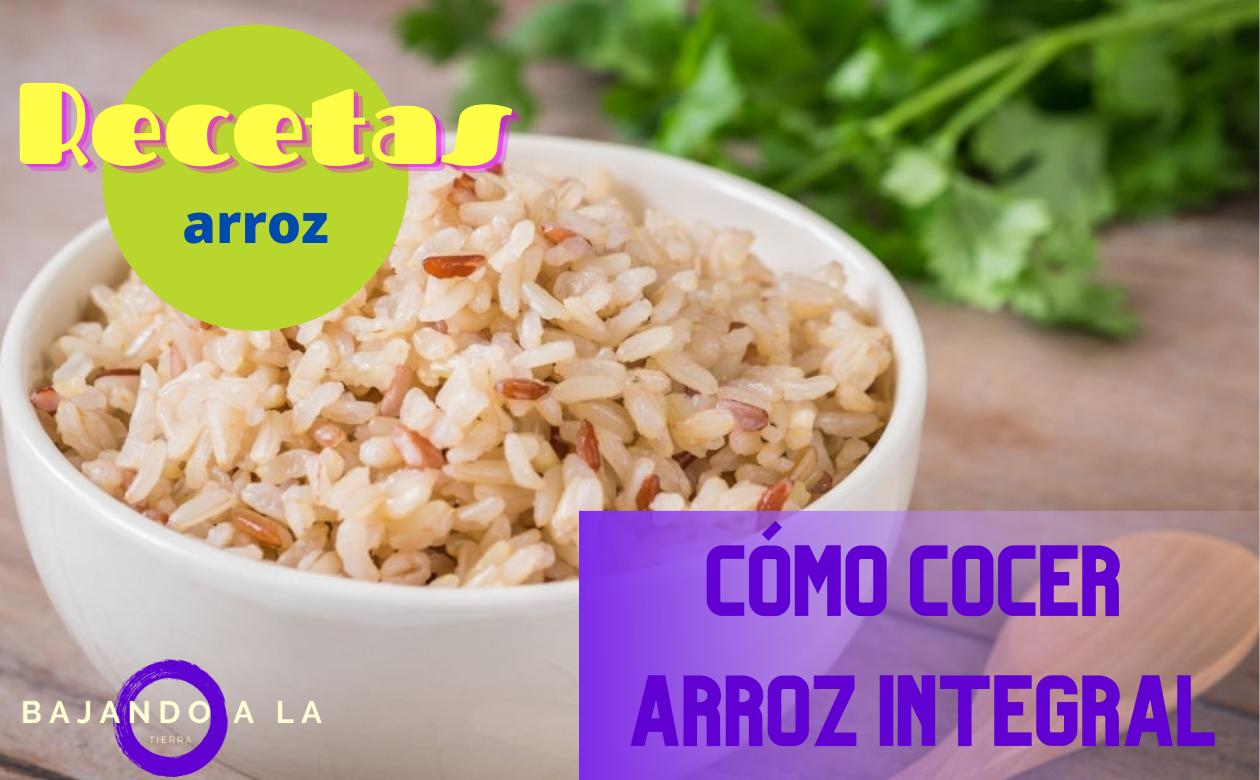 Cómo cocer arroz integral